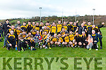 Liebherr celebrate after defeating  Intel in the All Ireland Inter Firm final in Fossa on Saturday