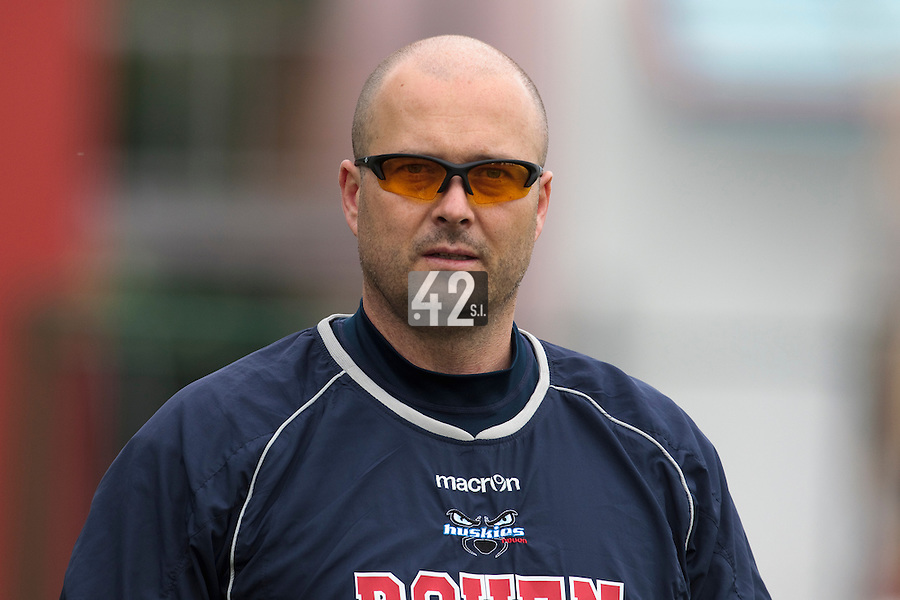 03 June 2010: Robin Roy of Rouen is seen prior to the 2010 Baseball European Cup match won  8-4 by C.B. Sant Boi over the Rouen Huskies, at the Kravi Hora ballpark, in Brno, Czech Republic.