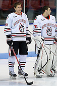 Ludwig Karlsson (Northeastern - 45), Clay Witt (Northeastern - 31) - The visiting St. Francis Xavier University X-Men defeated the Northeastern University Huskies 8-5 on Sunday, October 2, 2011, at Matthews Arena in Boston, Massachusetts.