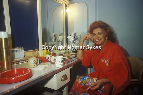 Pat Phonix actress actor dressing room Bournmouth 1980s Uk