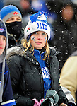 3 January 2010: An Indianapolis Colts fan attends a game against the Buffalo Bills on a cold, snowy, final game of the season at Ralph Wilson Stadium in Orchard Park, New York. The Bills defeated the Colts 30-7. Mandatory Credit: Ed Wolfstein Photo