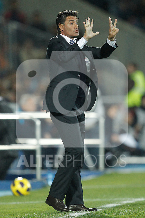 GETAFE, Madrid (07/11/2010).- Spanish League match Getafe vs Barcelona. Michel...Photo: Cesar Cebolla / ALFAQUI