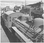 K-36 #486 close-up boiler-top view with #484 in background.  20 other engines as well.<br /> D&amp;RGW  Durango, CO