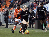 Barnsley's Cameron McGeehan shields the ball from Blackpool's Marc Bola<br /> <br /> Photographer Rich Linley/CameraSport<br /> <br /> The EFL Sky Bet League One - Blackpool v Barnsley - Saturday 22nd December 2018 - Bloomfield Road - Blackpool<br /> <br /> World Copyright &copy; 2018 CameraSport. All rights reserved. 43 Linden Ave. Countesthorpe. Leicester. England. LE8 5PG - Tel: +44 (0) 116 277 4147 - admin@camerasport.com - www.camerasport.com