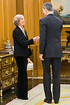 Ana Iribar during the auddience of King Felipe VI with representation of Gregorio Ordonez Fenollar Foundation at Zarzuela Palace in Madrid. 20 January 2020. (Alterphotos/Francis González)