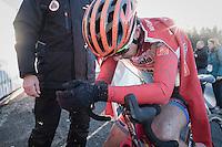 Christine Majerus (LUX/Boels-Dolmans) post-race<br /> <br /> 2016 CX Superprestige Spa-Francorchamps (BEL)