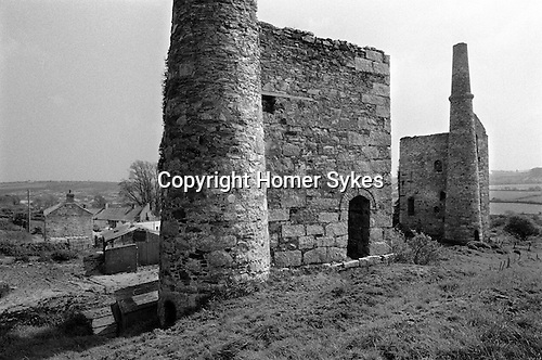 Disused  tin mine, near Baldhu, Chacewater , Cornwall   1978.