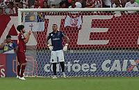 RECIFE, PE - 04.08.2018 - NAUTICO-ABC - Ortigoza comemora o gol marcado em partida  valida pelo Campeonato Brasileiro da Serie C na Arena de Pernambuco neste sabado, 04 (Foto:Charles Johnson / Brazil Photo Press)
