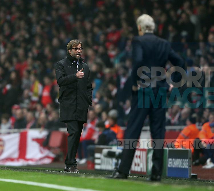 Dortmund's Jurgen Klopp looks on dejected<br /> <br /> UEFA Champions League- Arsenal vs Borussia Dortmund- Emirates Stadium - England - 26th November 2014 - Picture David Klein/Sportimage