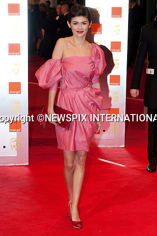 "Audrey Tautou.at the Annual British Academy Film Awards, Royal Opera House, London_21st February, 2010..Mandatory Photo Credit: ©Dias/NEWSPIX INTERNATIONAL..**ALL FEES PAYABLE TO: ""NEWSPIX INTERNATIONAL""**..PHOTO CREDIT MANDATORY!!: NEWSPIX INTERNATIONAL(Failure to credit will incur a surcharge of 100% of reproduction fees)..IMMEDIATE CONFIRMATION OF USAGE REQUIRED:.Newspix International, 31 Chinnery Hill, Bishop's Stortford, ENGLAND CM23 3PS.Tel:+441279 324672  ; Fax: +441279656877.Mobile:  0777568 1153.e-mail: info@newspixinternational.co.uk"