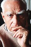 Alberto Moravia in 1989.