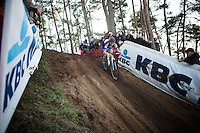 race leader Sanne Cant (BEL/Enertherm-BKCP)<br /> <br /> UCI Cyclocross World Cup Heusden-Zolder 2015