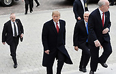 United States President Donald J. Trump and US Vice President Mike Pence arrive at the US Capitol to attend the Senate Republican policy luncheon January 9, 2019 in Washington, DC. <br /> Credit: Olivier Douliery / Pool via CNP