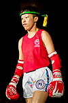 Wan Lok Yan (Red) of Hong Kong enters to the ring prior the female muay 51KG division weight bout against Kim Suyoung (Not in picture) of South Korea during the East Asian Muaythai Championships 2017 at the Queen Elizabeth Stadium on 12 August 2017, in Hong Kong, China. Photo by Yu Chun Christopher Wong / Power Sport Images