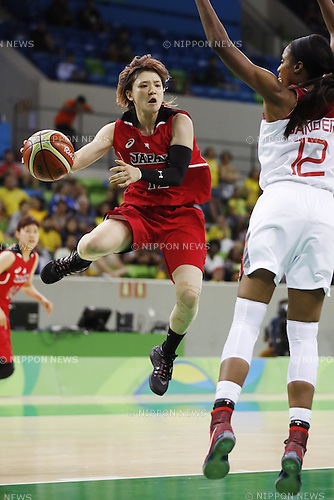 Asami Yoshida (JPN), AUGUST 9, 2016 - Basketball : <br /> Women's Preliminary Round <br /> between Japan 62-76 Turkey <br /> at Youth Arena <br /> during the Rio 2016 Olympic Games in Rio de Janeiro, Brazil. <br /> (Photo by Yusuke Nakanishi/AFLO SPORT)