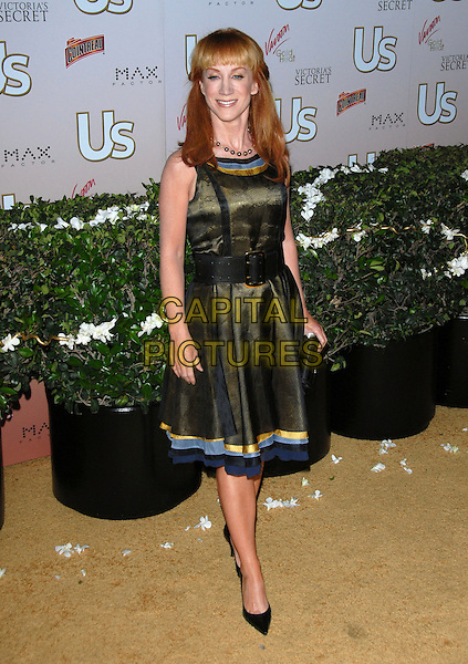 KATHY GRIFFIN .The US Hot Hollywood 2007 held at Sugar in Hollywood, California, USA..April 26th, 2007.full length green shiny dress sleeveless black wide belt .CAP/DVS.©Debbie VanStory/Capital Pictures