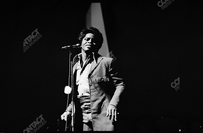 James Brown at the Olympia music-hall, Paris, France, September 1967