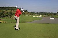 Padraig Harrington (IRL) tees off on the 10th tee during Sundays Final Round 3 of the 54 hole Iskandar Johor Open 2011 at the Horizon Hills Golf Resort Johor, Malaysia, 19th November 2011 (Photo Eoin Clarke/www.golffile.ie)