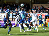 Adebayo Akinfenwa of Wycombe Wanderers during the Sky Bet League 2 match between Wycombe Wanderers and Mansfield Town at Adams Park, High Wycombe, England on the 14th April 2017. Photo by Liam McAvoy.