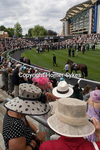 The new stand and parade ring.  Royal Ascot, horse race.  Berkshire, England. 2006.