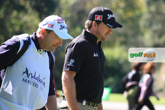 Graeme McDowell (NIR) during the 2nd day at the  Andalucía Masters at Club de Golf Valderrama, Sotogrande, Spain. .Picture Fran Caffrey www.golffile.ie