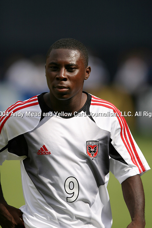 11 September 2004: Freddy Adu before the game. DC United defeated the Dallas Burn 3-0 at RFK Stadium in Washington, DC during a regular season Major League Soccer game..