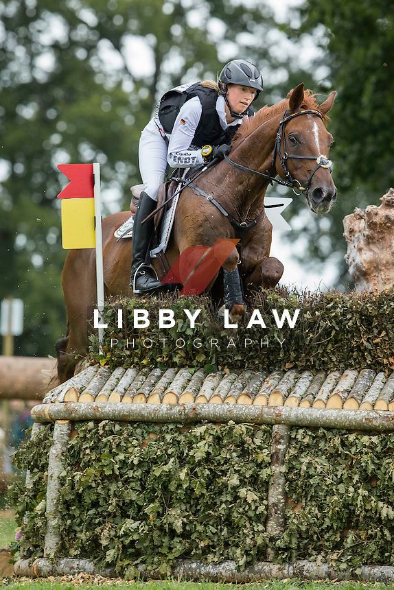 GER-Sandra Auffarth (OPGUN LOUVO) INTERIM-2ND: CROSS COUNTRY: EVENTING: The Alltech FEI World Equestrian Games 2014 In Normandy - France (Saturday 30 August) CREDIT: Libby Law COPYRIGHT: LIBBY LAW PHOTOGRAPHY - NZL