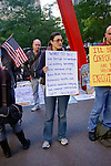 "Protester holds ""Get involved"" sign at the Occupy Wall Street Protest in New York City October 6, 2011."