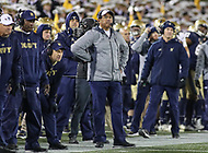 Annapolis, MD - November 11, 2017: Navy Midshipmen head coach Ken Niuamtalolo during the game between SMU and Navy at  Navy-Marine Corps Memorial Stadium in Annapolis, MD.   (Photo by Elliott Brown/Media Images International)