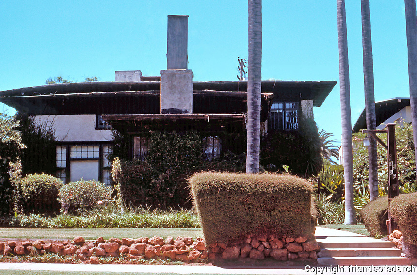 Irving Gill: Mary Cossitt #4, 3526 7th Ave., San Diego. Photo 1978.