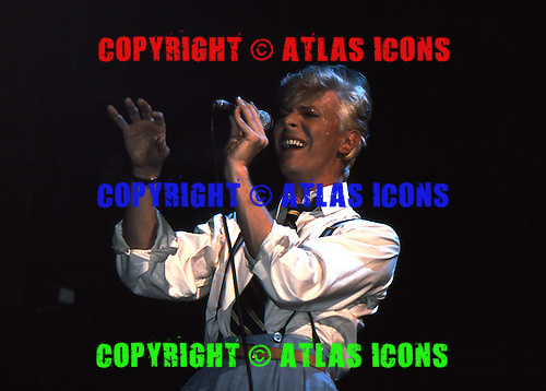 David Bowie At Madison Square Garden, In New York City, .Photo Credit: Eddie Malluk/Atlas Icons.com