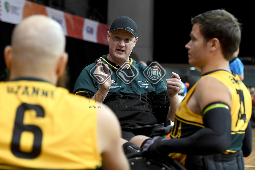 Brad Dubberley (AUS) vs Japan<br /> Australian Wheelchair Rugby Team<br /> 2018 IWRF WheelChair Rugby <br /> World Championship / Day 4<br /> Sydney  NSW Australia<br /> Wednesday 8th August 2018<br /> © Sport the library / Jeff Crow / APC