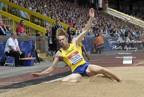 Christopher (Chris) Tomlinson (Newham). Mens long jump. British Athletics Championships. Alexander Stadium. Birmingham. UK. 26/06/2016. ~ MANDATORY CREDIT Garry Bowden/SIPPA - NO UNAUTHORISED USE - +447837 394578