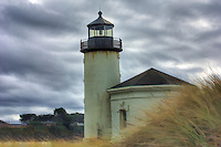 Coquille River Lighthouse, Oregon, digitally manipulated for fine art