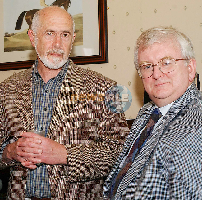 Brian Conyngham with Seamus O'Cinneide, The Arts Council at the reception after the Arts Council/An Chomhairle Eala'on annual plenary meeting in the Boyne Valley Hotel and Country Club in Drogheda, County Louth on Thursday 26 June 2003... ..