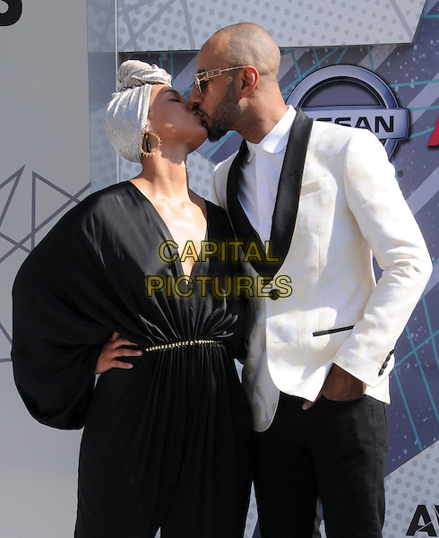 26 June 2016 - Los Angeles. Alicia Keys, Swizz Beatz. Arrivals for the 2016 BET Awards held at the Microsoft Theater. <br /> CAP/ADM/BT<br /> &copy;BT/ADM/Capital Pictures