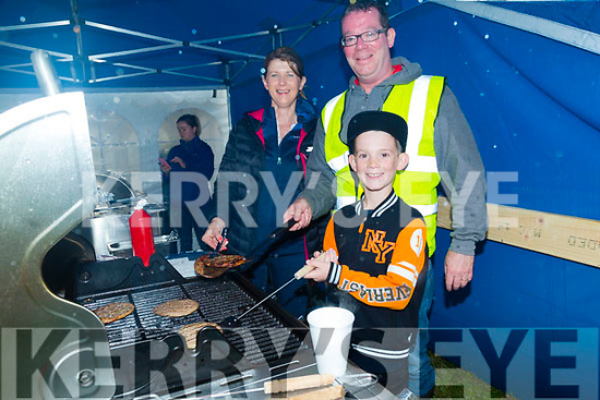 Cooking the Burgers at the Abbeydorney Vintage Rally on Sunday Tom and Luke Fitzmaurice and Mary Peevers