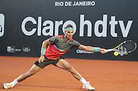 RIO DE JANEIRO, RJ, 23.02.2014 - O espanhol Rafael Nadal em lance contra o ucraniano Alexandr Dolgopolov  durante a final masculina na quadra central do Jockey Club neste domingo. (Foto: Néstor J. Beremblum / Brazil Photo Press).