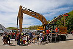 """Torrington, CT 051819MK12 Picture perfect weather enticed a large crowd   to view and interact with heavy equipment at the O&G Industries' annual Touch a Truck Family Fun Event at their maintenance facility on Saturday Morning.  Seth Duke, marketing director, said """" With the weather so nice today we will receive over two-thousand attendees and the suggested donations will be donated to Kids Play to help with their continued development.""""  O&G's Jim Zambero, vice president of equipment purchase and maintenance, said that sixty volunteers and twentyfive local vendors helped host the event while members of the Operational Engineer's Union Local #478 directed traffic and managed parking . Michael Kabelka / Republican-American"""
