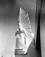 Statue of bird adorns a building at the Chicago World's Fair in the 1930's. (Photographer Unknown/www.bcpix.com)