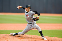 19 August 2007: Pitcher #19 Yuki Kume pitches during the Japan 4-3 victory over France in the Good Luck Beijing International baseball tournament (olympic test event) at the Wukesong Baseball Field in Beijing, China.