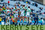 The Na Gaeil players celebrate following the AIB GAA Football All-Ireland Junior Club Championship Final match between Na Gaeil and Rathgarogue-Cushinstown at Croke Park on Saturday.