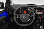 Car pictures of steering wheel view of a 2018 Citroen C1 Airscape Shine 5 Door Hatchback