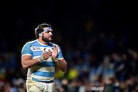 Ramiro Herrera of Argentina acknowledges the crowd after the match. Rugby World Cup Semi Final between Argentina v Australia on October 25, 2015 at Twickenham Stadium in London, England. Photo by: Patrick Khachfe / Onside Images
