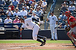 Alex Rodriguez (Yankees),<br /> MARCH 4, 2015 - MLB : Alex Rodriguez (13) of the New York Yankees hits a single in the first inning during a spring training baseball game against the Philadelphia Phillies at George M. Steinbrenner Field in Tampa, Florida, United States.<br /> (Photo by Thomas Anderson/AFLO) (JAPANESE NEWSPAPER OUT)