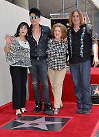Criss Angel &amp; mother Dimitra Sarantakos (left) &amp; aunt Stella &amp; nephew at the Hollywood Walk of Fame Star Ceremony honoring illusionist Criss Angel. Hollywood Boulevard, Los Angeles, USA 20 July 2017<br /> Picture: Paul Smith/Featureflash/SilverHub 0208 004 5359 sales@silverhubmedia.com