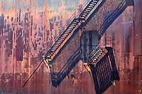 Rusted Steel Plates and Stairs.