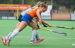 BLOEMENDAAL - Myrthe van Kesteren (Bl'daal)  , 2e play out wedstrijd tussen Bloemendaal-HGC dames (2-0). COPYRIGHT KOEN SUYK