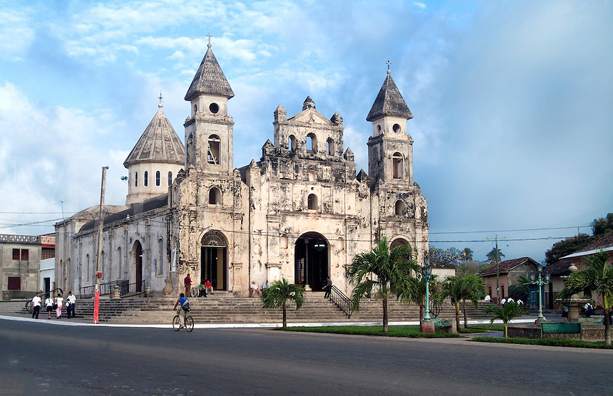 Ingesia Guadalupe ( Gaudalupa Church) in Granada, Nicaragua.