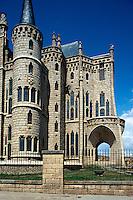 Bischofspalast von Antoni Gaudí in Astorga, Kastilien-León, Spanien
